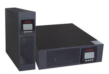Cina Blue LCD Intelligent Rack Mount UPS For Computer Network System pabrik