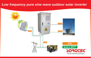 Sistem Tenaga Surya Grid Outdoor Off Low Frequency IP55 untuk Telecom