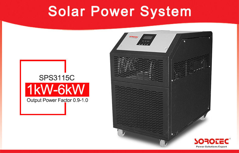 Low Frequency 3kW 230VAC Solar Power Inverter Dengan 60A MPPT Solar Charge Controller pemasok