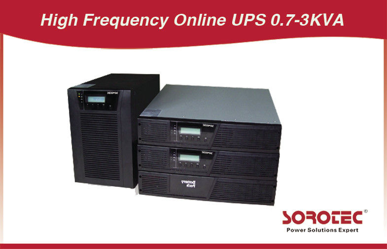 High Reliability Online Rack Mount Ups Power Supply Frekuensi Tinggi 0.7 - 3kva pemasok